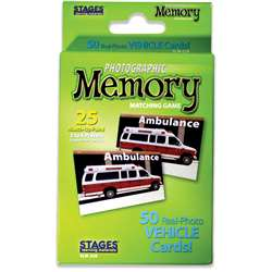 Vehicles Photographic Memory Matching Game, SLM228