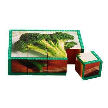 Vegetables Cube Puzzle By Stages Learning Materials