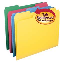 Smead 12Pk Letter Size File Folders Assorted Color, SMD11641