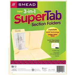Smead 3 N 1 Supertab Section Manila Folder, SMD11904
