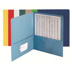 Smead 25Ct Asst Colors Standard Two Pocket Folders, SMD87850