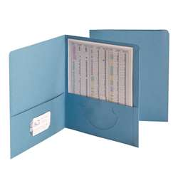 Smead 25Ct Blue Standard Two Pocket Folders, SMD87852