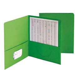 Smead 25Ct Green Standard Two Two Pocket Folders, SMD87855