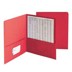 Smead 25Ct Red Standard Two Two Pocket Folders, SMD87859
