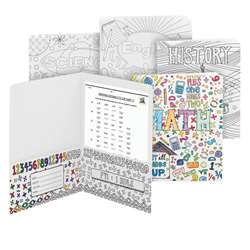 School Subjects Two Pocket Folders Smead Coloring, SMD87910