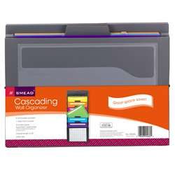 Smead Cascading Wall Organizer Gray With Bright Po, SMD92060