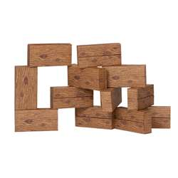 16Pc Giant Timber Blocks By Smart Monkey