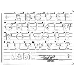Template Mauscript Uppercase 1 Letters By School Rite