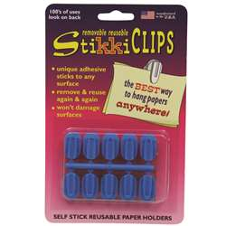 Stikkiclips Blue 10/Pk By The Stikkiworks