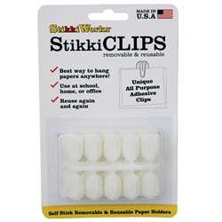 Stikki Clips White 20 Per Pack By The Stikkiworks