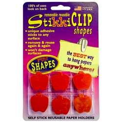 Stikkiclips 6 Red Apples Per Pack By The Stikkiworks