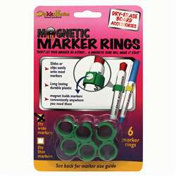 Magnetic Marker Rings: Fits Lare Diameter Markers, 6 Pack Diameter Markers By The Stikkiworks