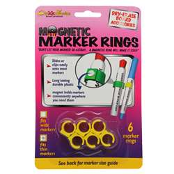 Magnetic Marker Rings: Fits Thin Barrel Markers, 6 Pack By The Stikkiworks