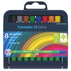 Linkit 10Mm Fiber Pen 8 Colors Schneider, STW192098