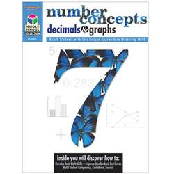 Middle School Math Collection Number Concepts Decimals & Graphs By Houghton Mifflin