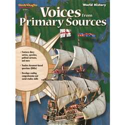 Voices From Primary Sources World History By Harcourt School Supply