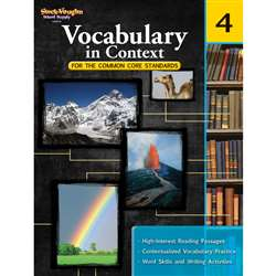 Gr 4 Vocabulary In Context For The Common Core Standards By Houghton Mifflin