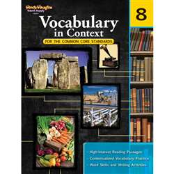 Gr 8 Vocabulary In Context For The Common Core Standards By Houghton Mifflin