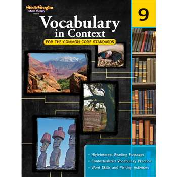 Gr 9 Vocabulary In Context For The Common Core Standards By Houghton Mifflin