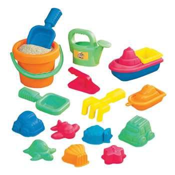 15-Piece Toddler Sand Assortment By Small World Toys