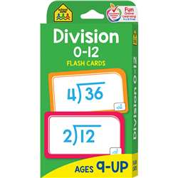 Division 0-12 Flash Cards By School Zone Publishing