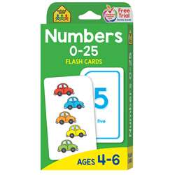Numbers 0-25 Flash Cards By School Zone Publishing