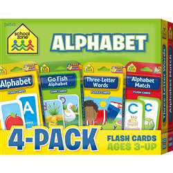 Alphabet Flash Cards 4 Pack, SZP04043