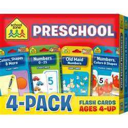 Preschool Flash Cards 4 Pack, SZP04044