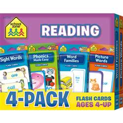 Reading Flash Cards 4 Pack, SZP04045