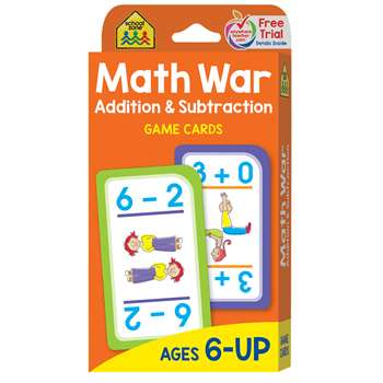 Math War Addition & Subtraction Game Cards By School Zone Publishing