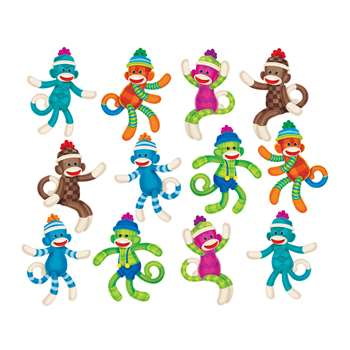 Sock Monkeys Patterns Accents Variety Pack By Trend Enterprises