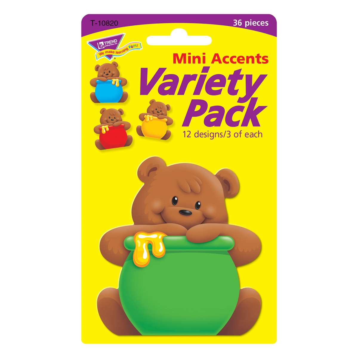 Classic Accents Mini Bears Variety Pack By Trend Enterprises Accents K12schoolsupplies Net