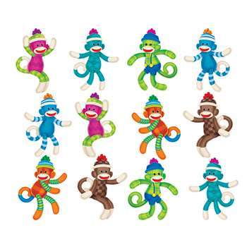 Sock Monkey Patterns Mini Accents Variety Pack By Trend Enterprises
