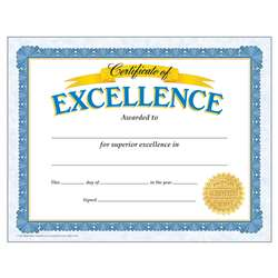 Certificate Of Excellence By Trend Enterprises