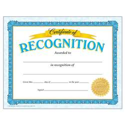 Certificate Of Recognition Classic By Trend Enterprises