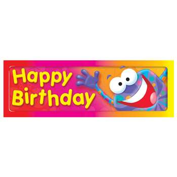 Happy Birthday Frog-Tastic Bookmarks By Trend Enterprises