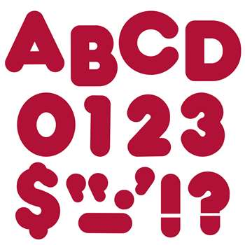 Ready Letters 4 Inch Casual Maroon By Trend Enterprises