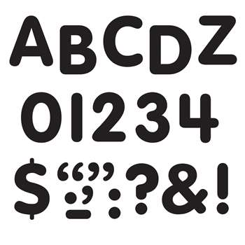 Stick-Eze 1 Letters Numbers Black 126 Punctuation Marks By Trend Enterprises