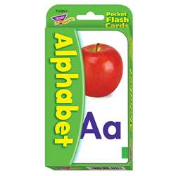 Pocket Flash Cards Alphabet 56-Pk 3 X 5 Two-Sided Cards By Trend Enterprises