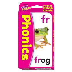 Pocket Flash Cards Phonics 56-Pk 3 X 5 Two-Sided Cards By Trend Enterprises