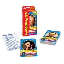 Pocket Flash Cards Presidents 56-Pk 3 X 5 Two-Sided Cards By Trend Enterprises
