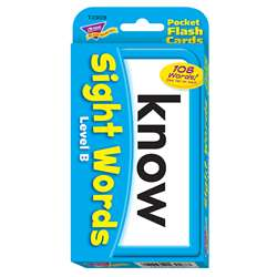Pocket Flash Cards Sight Words B By Trend Enterprises