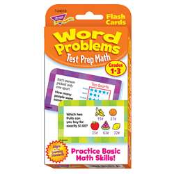 Challenge Cards Test Prep Math Gr 1-3 Word Problems By Trend Enterprises
