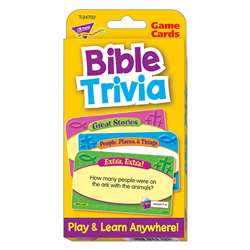 Bible Trivia Challenge Cards By Trend Enterprises