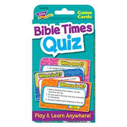 Challenge Cardsbible Times Quiz By Trend Enterprises