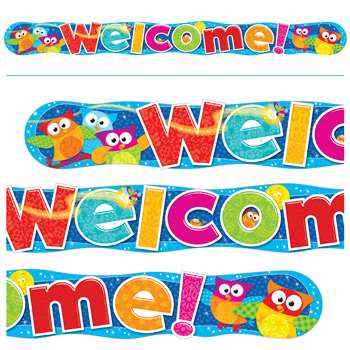 Welcome Owl Stars Quotable 10Ft Expressions Banner Horizontal By Trend Enterprises