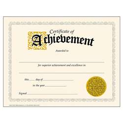Certificate Of Achievement 30/Pk Classic 8-1/2 X 11 By Trend Enterprises
