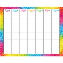 Colorful Brush Strokes Monthly Wipe Off Calendar By Trend Enterprises