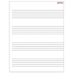 Music Staff Paper Wipe Off Chart 17X22 By Trend Enterprises