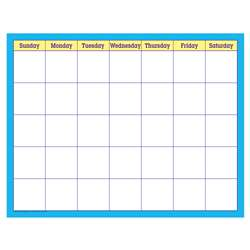 Blue Check Wipe Off Calendar Monthly, T-27802B
